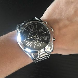 Michael Kors Silver & Black Watch
